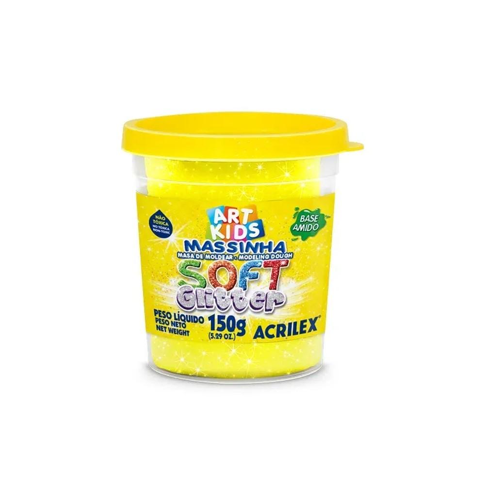 Massa Modelar Soft Glitter 150G Amarelo
