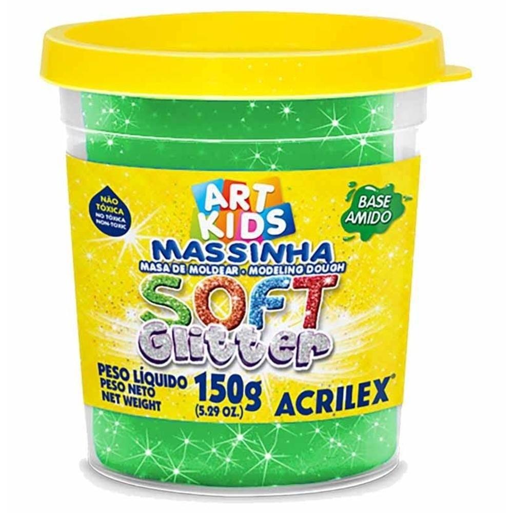 Massa Modelar Soft Glitter 150G Verde