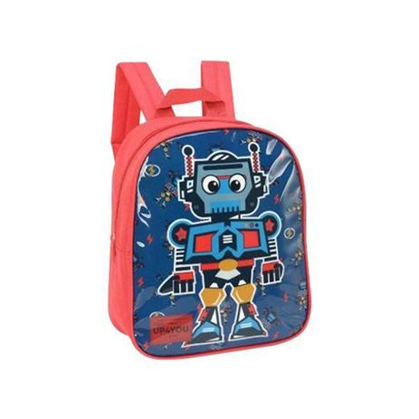 Mini Mochila Escolar Infantil Up4You Robo