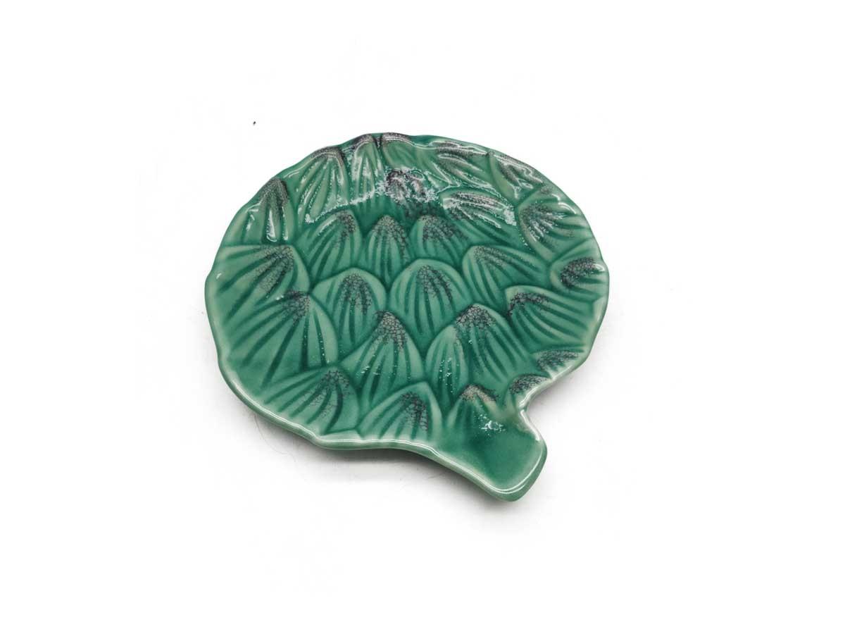 Mini prato de pão em cerâmica alcachofra verde - 15 cm