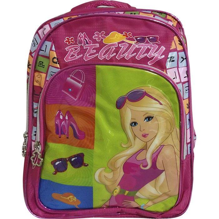 Mochila Escolar Infantil 3 Div Beauty Pink