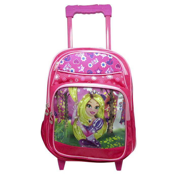 Mochila Escolar Infantil Carrinho Rapunzel