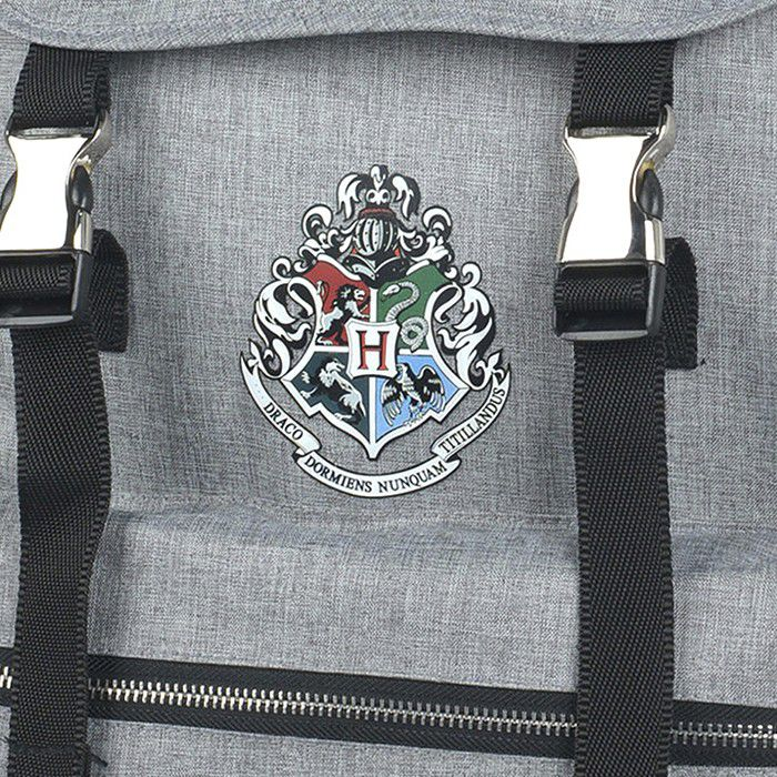 Mochila Laptop Harry Potter Cinza Claro