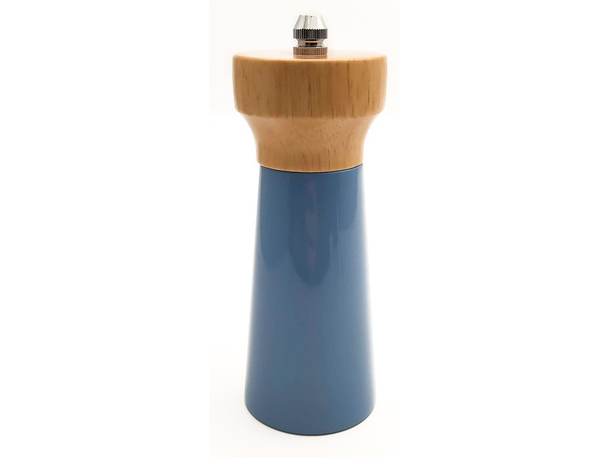 Moedor De Pimenta E Sal De Bambu 12Cm Azul