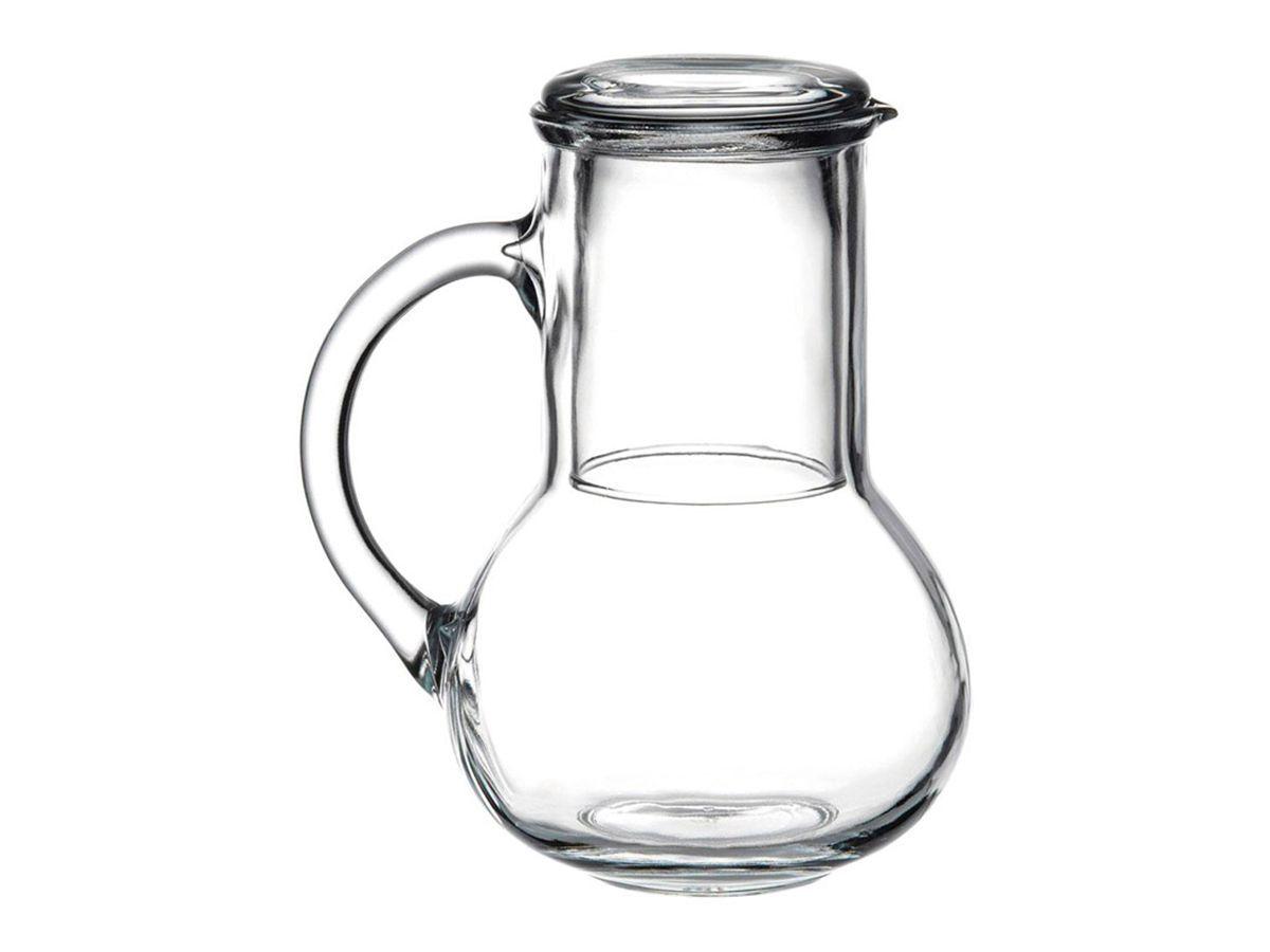 Moringa de vidro  Pasabahce Oasis capacidade para 1 litro e o copo 250 ml.
