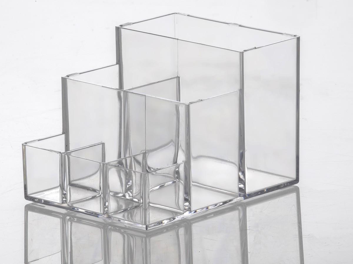 Organizador de cosméticos acrílico - 09 x 11 x 08 cm