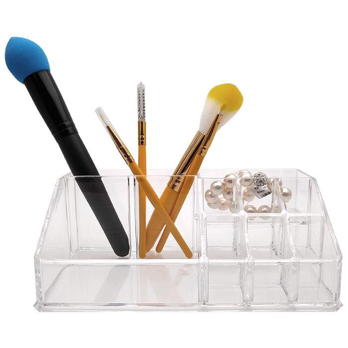 Organizador De Maquiagem E Cosméticos Em Acrílico 10 Divisórias
