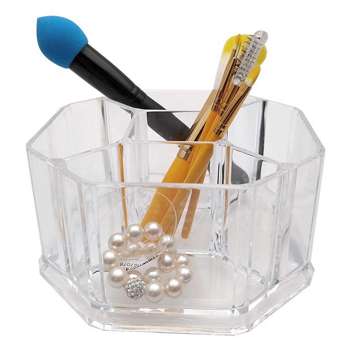 Organizador De Maquiagem E Cosméticos Em Acrílico 5 Divisórias