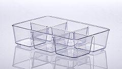 Organizador Diamond Com Divisórias 25 X 18 X 6Cm