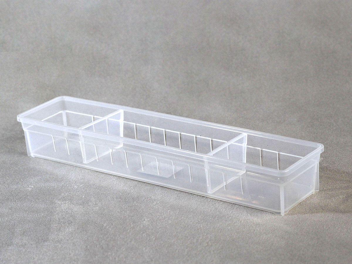 Organizador Empilhável c/ Divisória Movel  27X8X5 cm