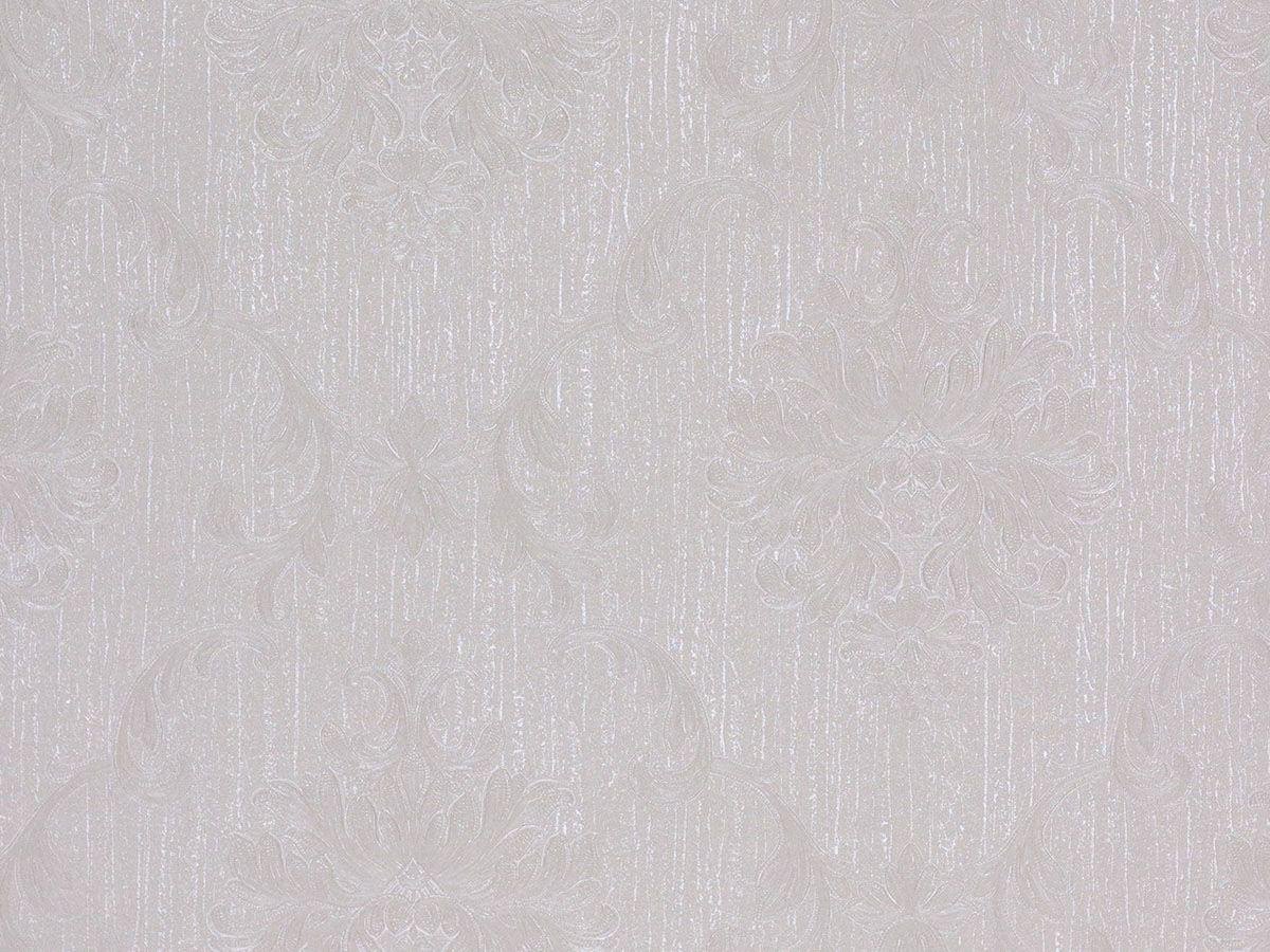 Papel De Parede Arabesco Escovado Branco Gelo - 87122