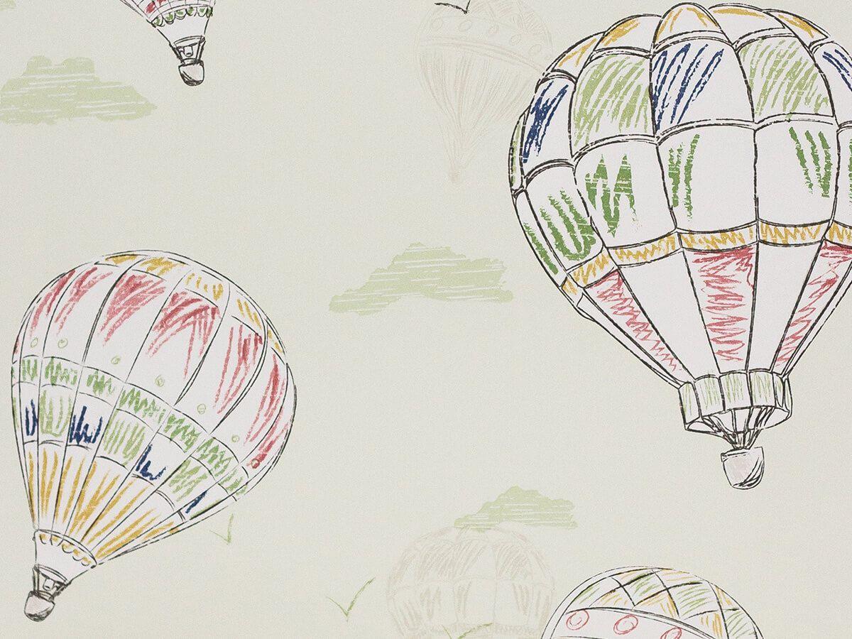 Papel De Parede Infantil Balões Verde Menta - 390703