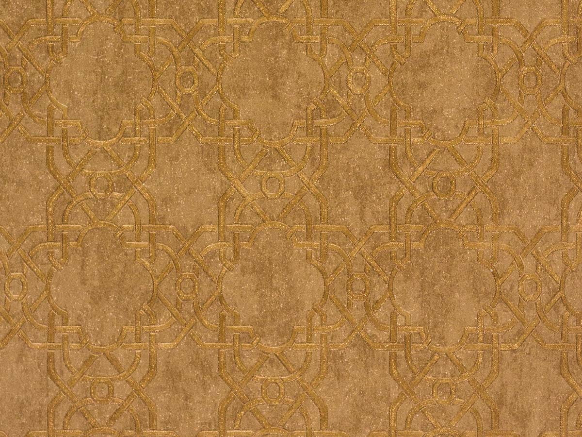 Papel De Parede Texturizado Geometrico Caramelo - 87037