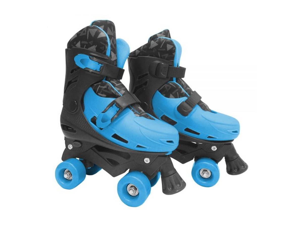 Patins roller ajustável azul - tam: 38 - 42