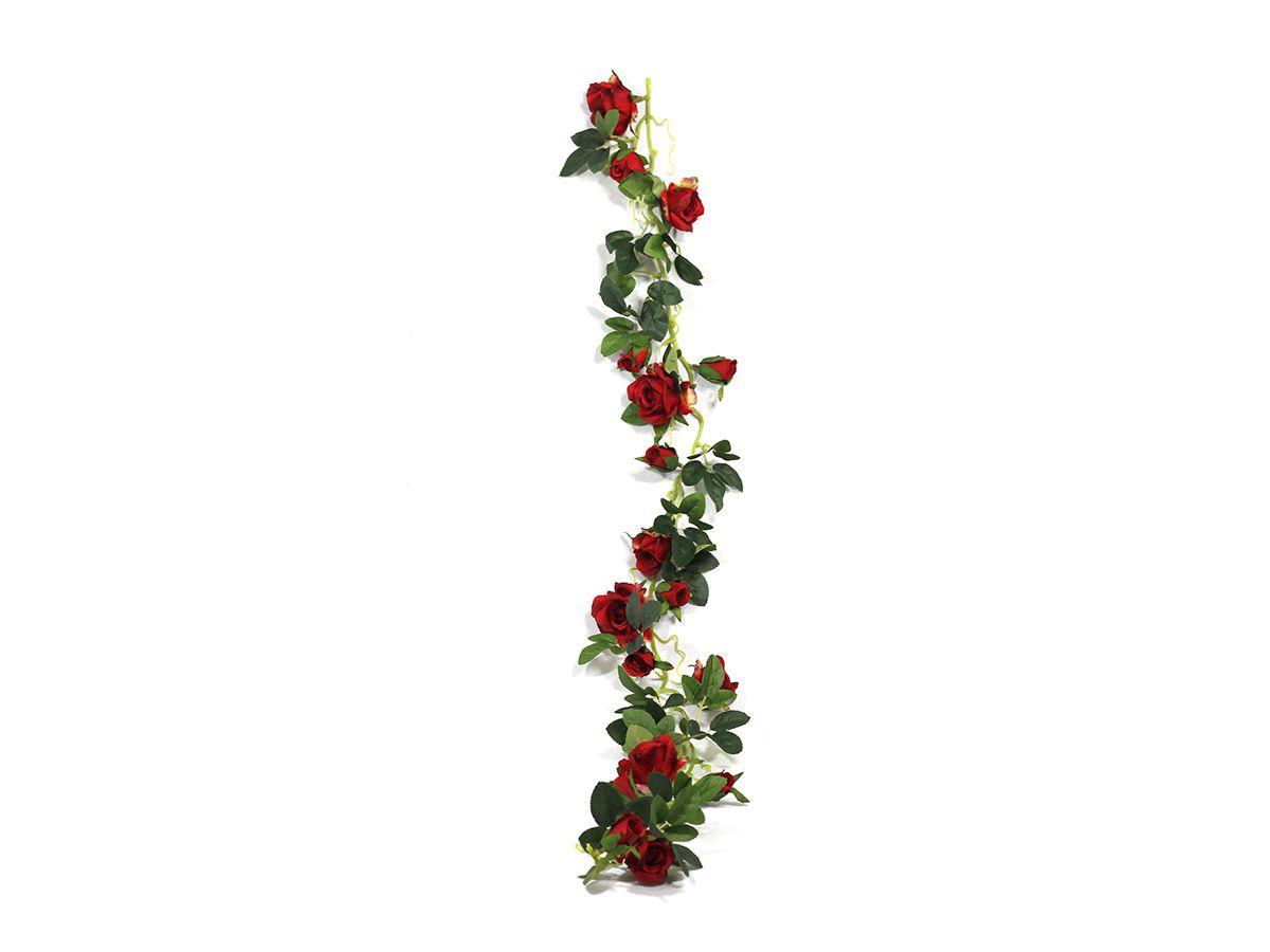 Pendente De Rosas Pequena Vermelha 1,15M