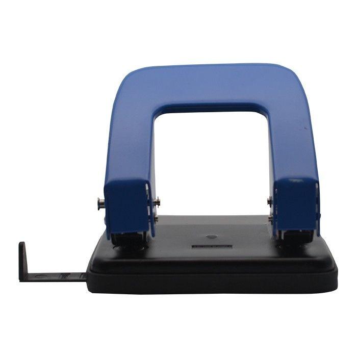 Perfurador De Papel 2 Furos 25 Folhas Azul
