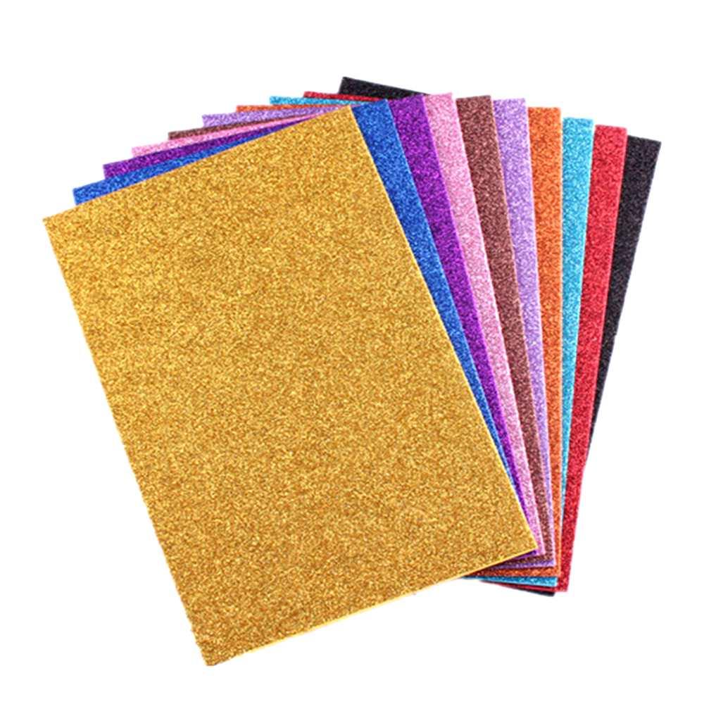 Placa de Eva Com Glitter Cores 10 unidades  40 x 60