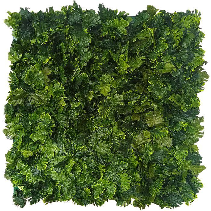 Placa De Muro Verde Hera Cheio 100X100Cm Artesanal