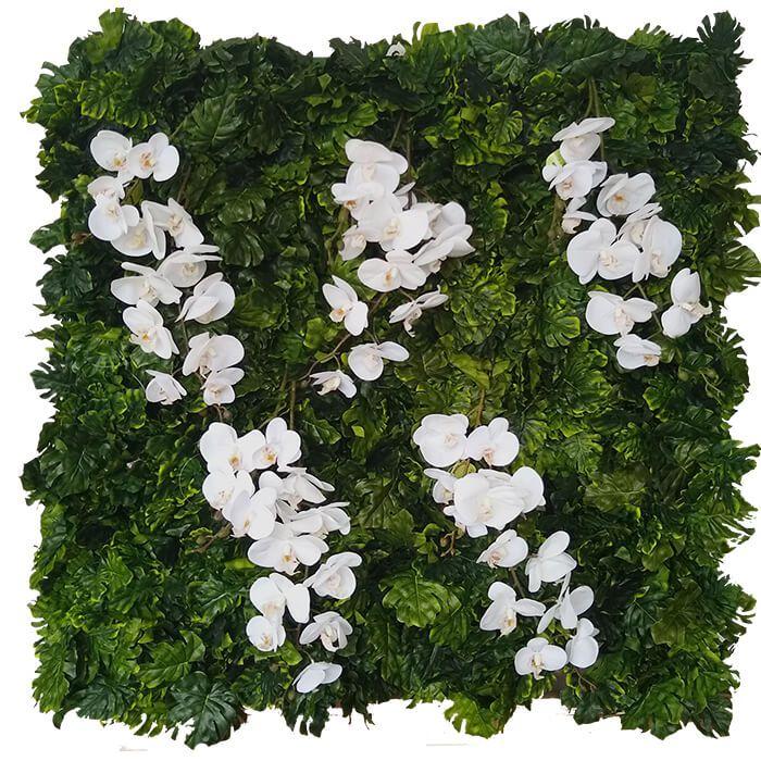 Placa De Muro Verde Hera Cheio 100X100Cm Artesanal Orquídea