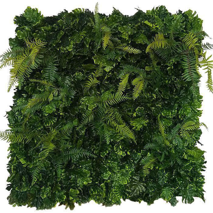 Placa De Muro Verde Hera Cheio 100X100Cm Artesanal Samambaia