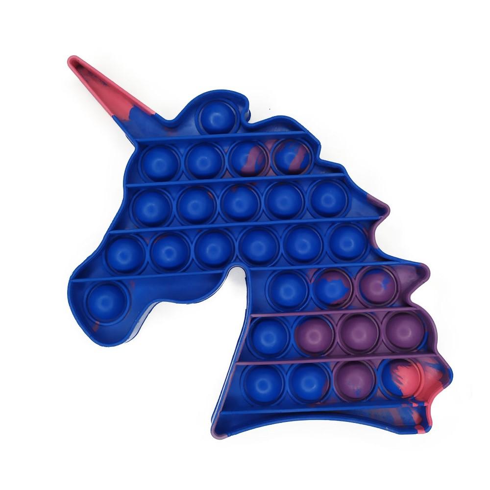 Pop It Fidget Toys Brinquedo Anti Stress Unicornio Bolha Colorido