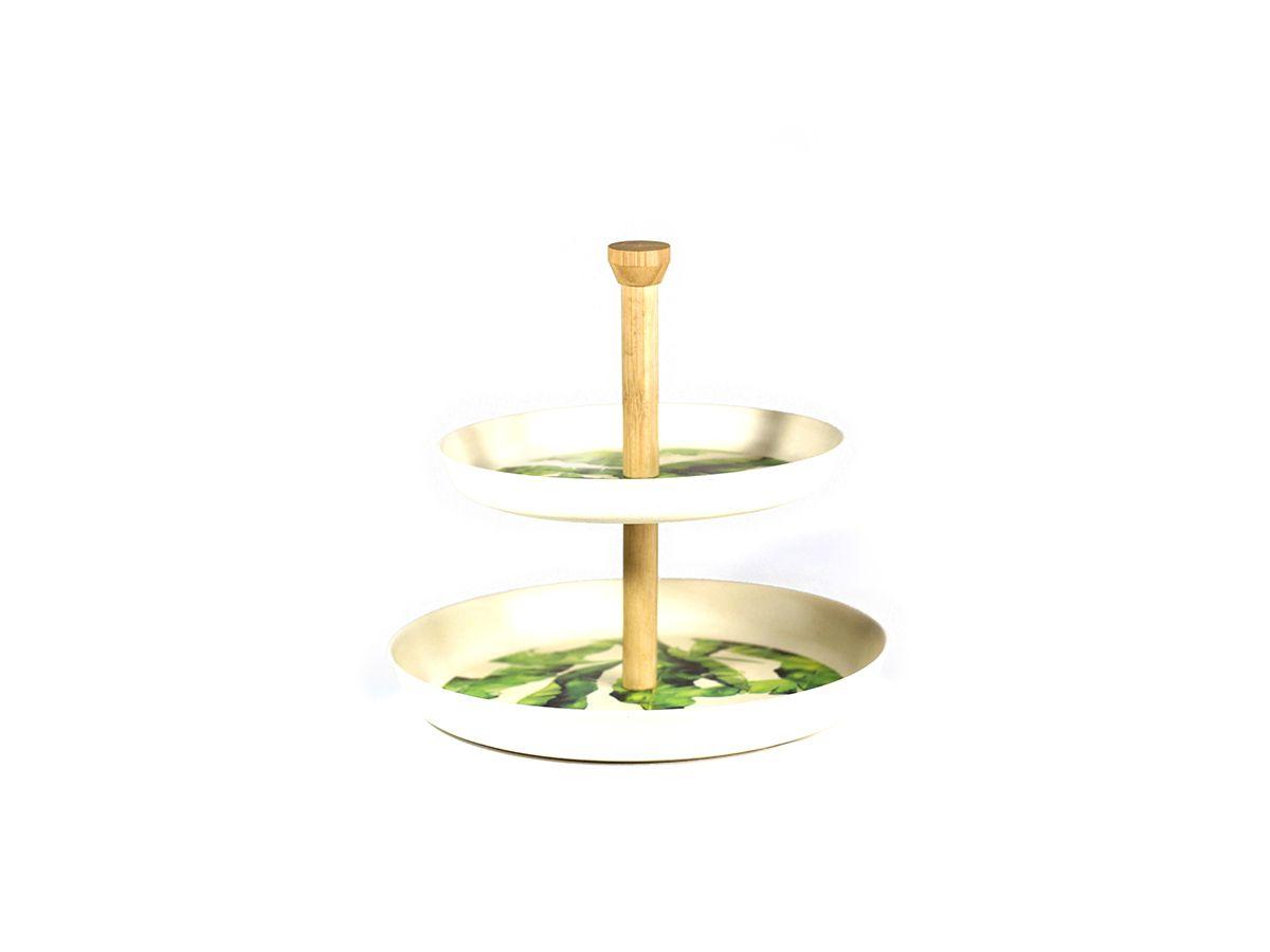 Porta Doce em Fibra de bambu Estampa Bananeira - 23x23 cm