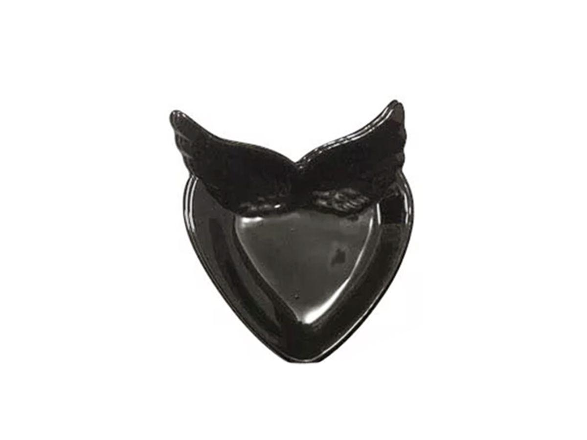 Porta Joia Porcelana Coração com Asa 12cm