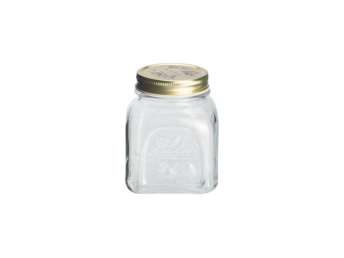 Porta Mantimento Homemade em Vidro com Tampa de Metal 500ml