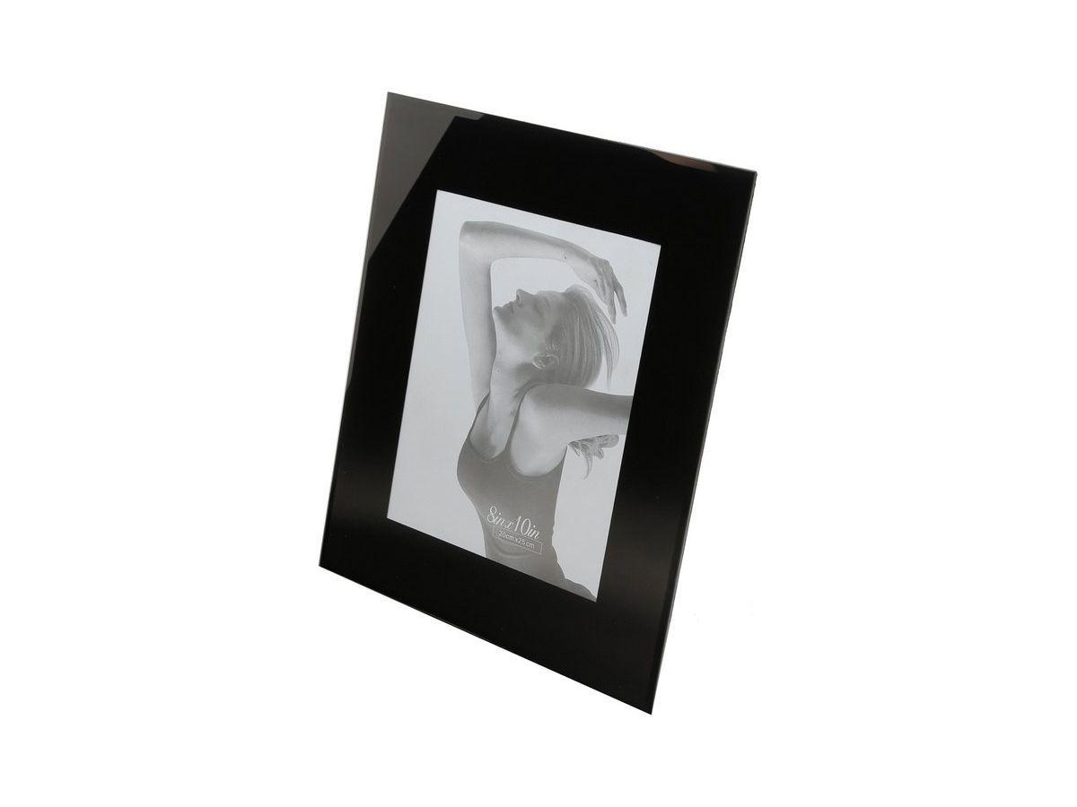 Porta Retrato Vidro Preto 13X18Cm