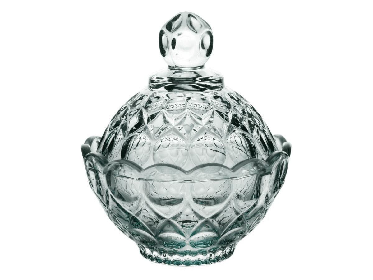 Potiche Decorativo em cristal Angel Verde - 11 x 11 cm