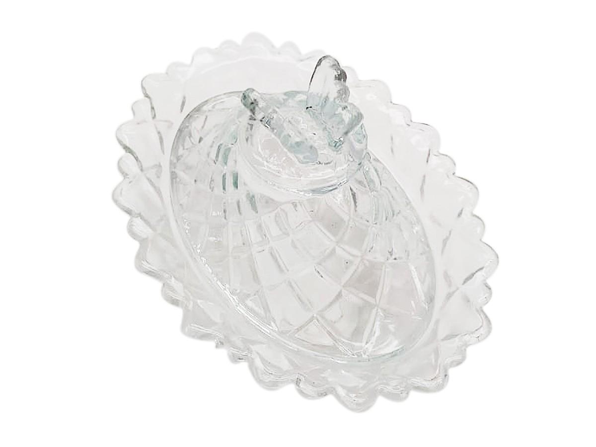 Potiche Oval em vidro Butterfly - 11 x 16 x 12 cm