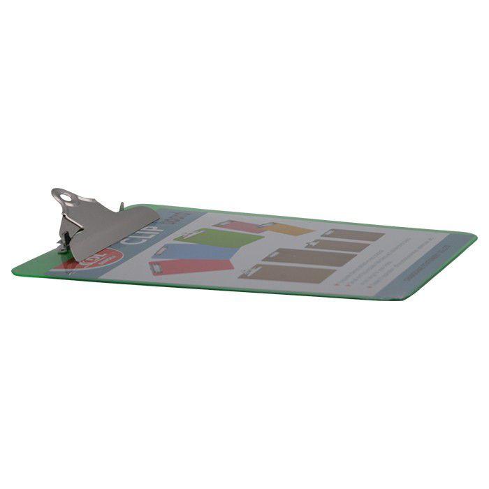Prancheta Plástica A4 Com Prendedor Metal Verde