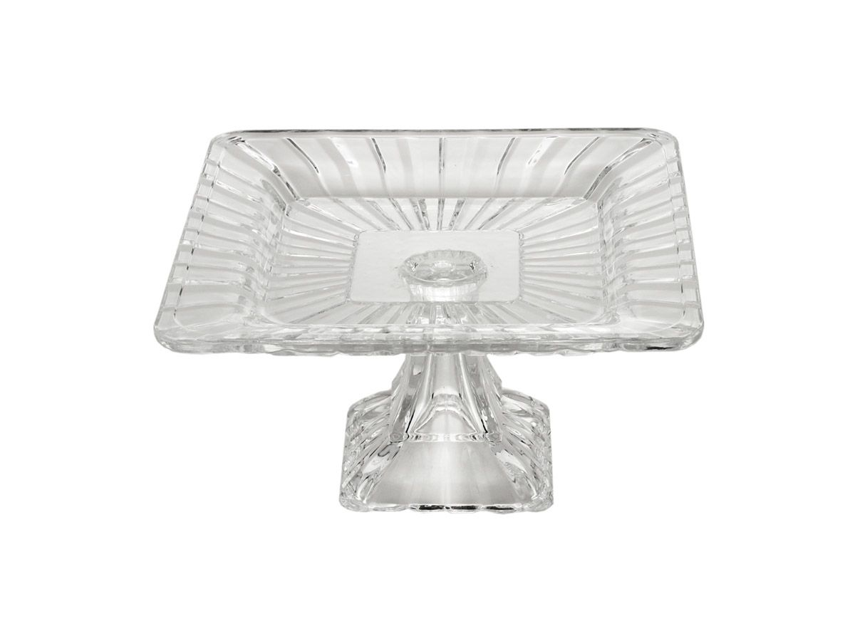 Prato para bolo de Cristal Quadratta - 19x10 cm