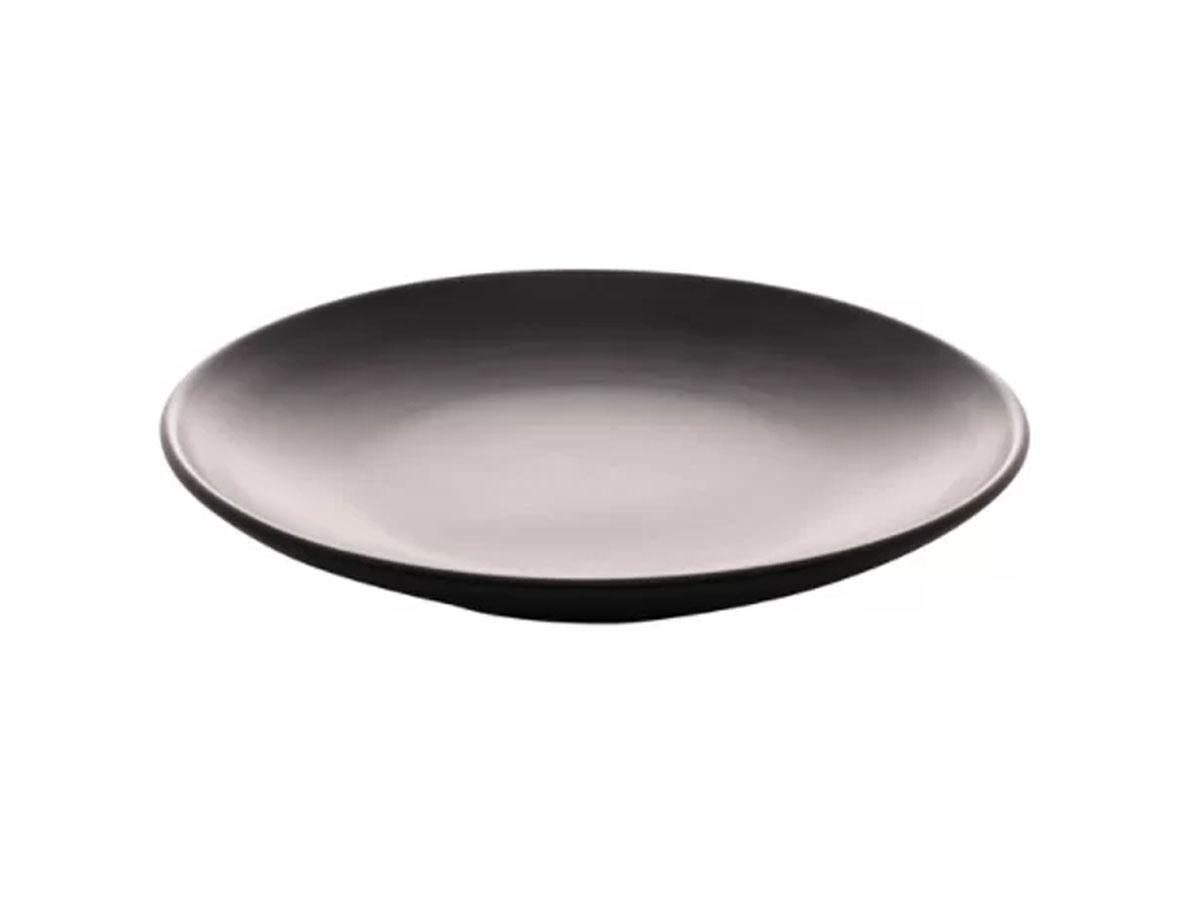 Prato Raso Cerâmica Cronus Preto Acetinado 27cm