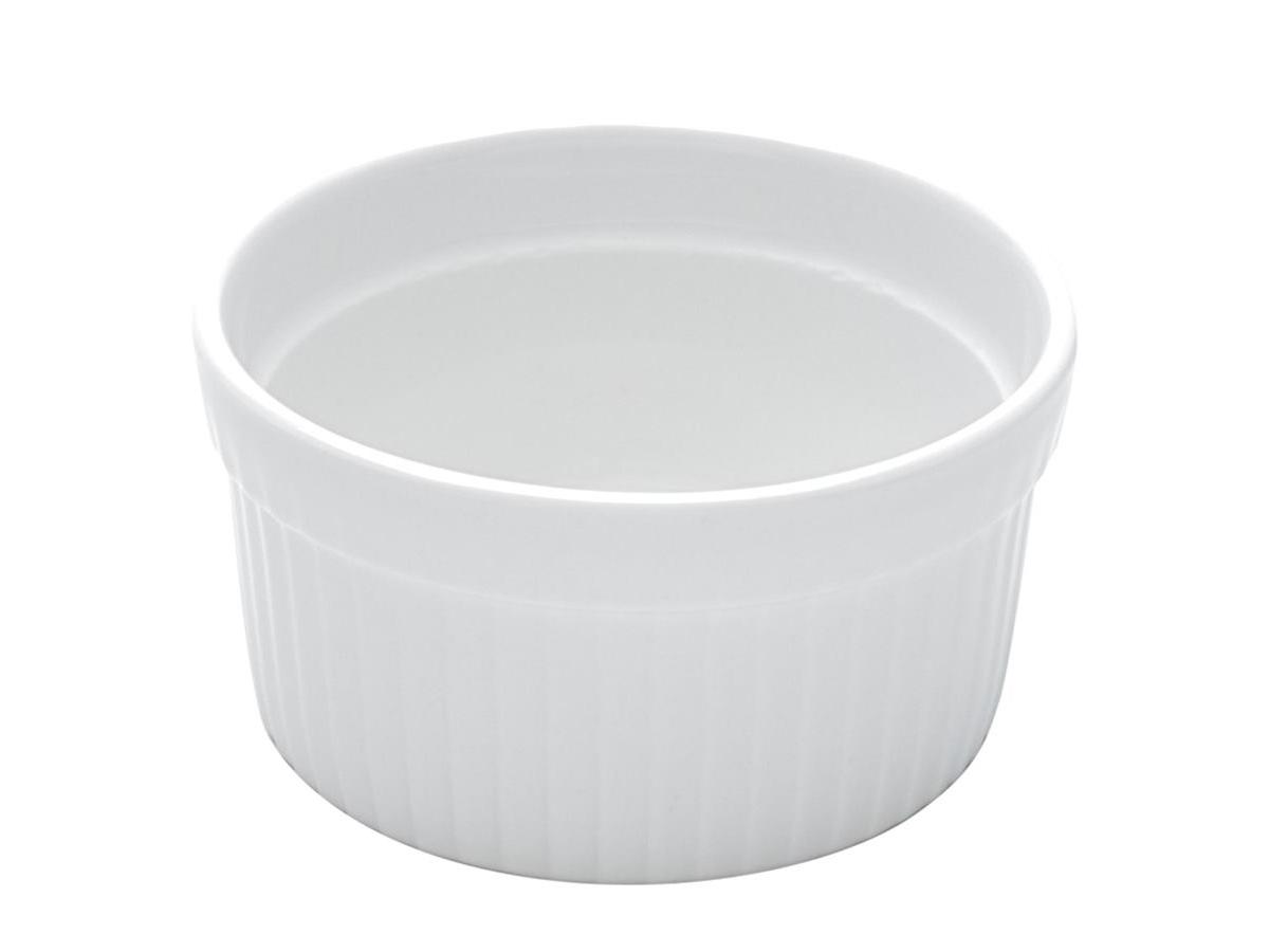 Ramequim Porcelana Plissado Branca 10X5Cm