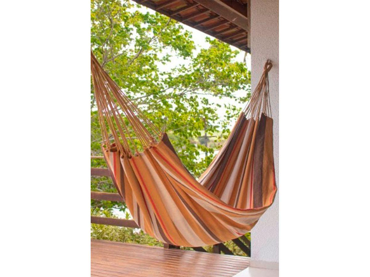 Rede de Dormir Solteiro Tambaú Casual Bege 380 x 145 cm