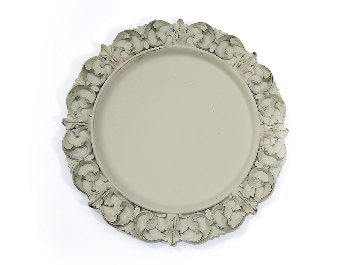 Sousplat em plástico Flor de Lis Fendi  - 35 cm