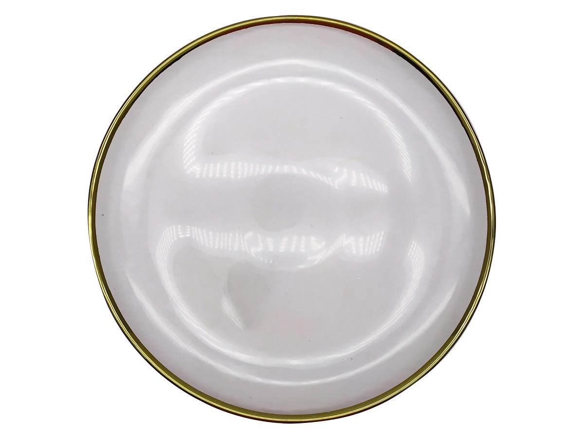 Sousplat em vidro texturizado com filete dourado - 31 cm