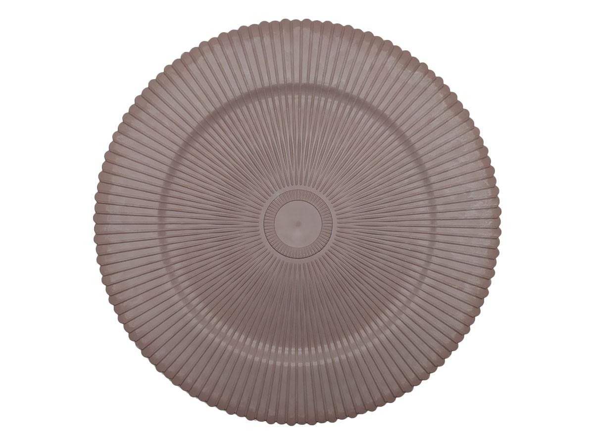 Sousplat Redondo em PVC Plissado Roxo 33 cm