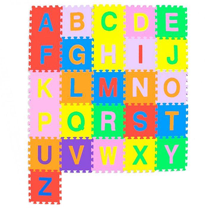 Tapete Infantil Tatame Em Eva Alfabeto Colorido 26 Pecas