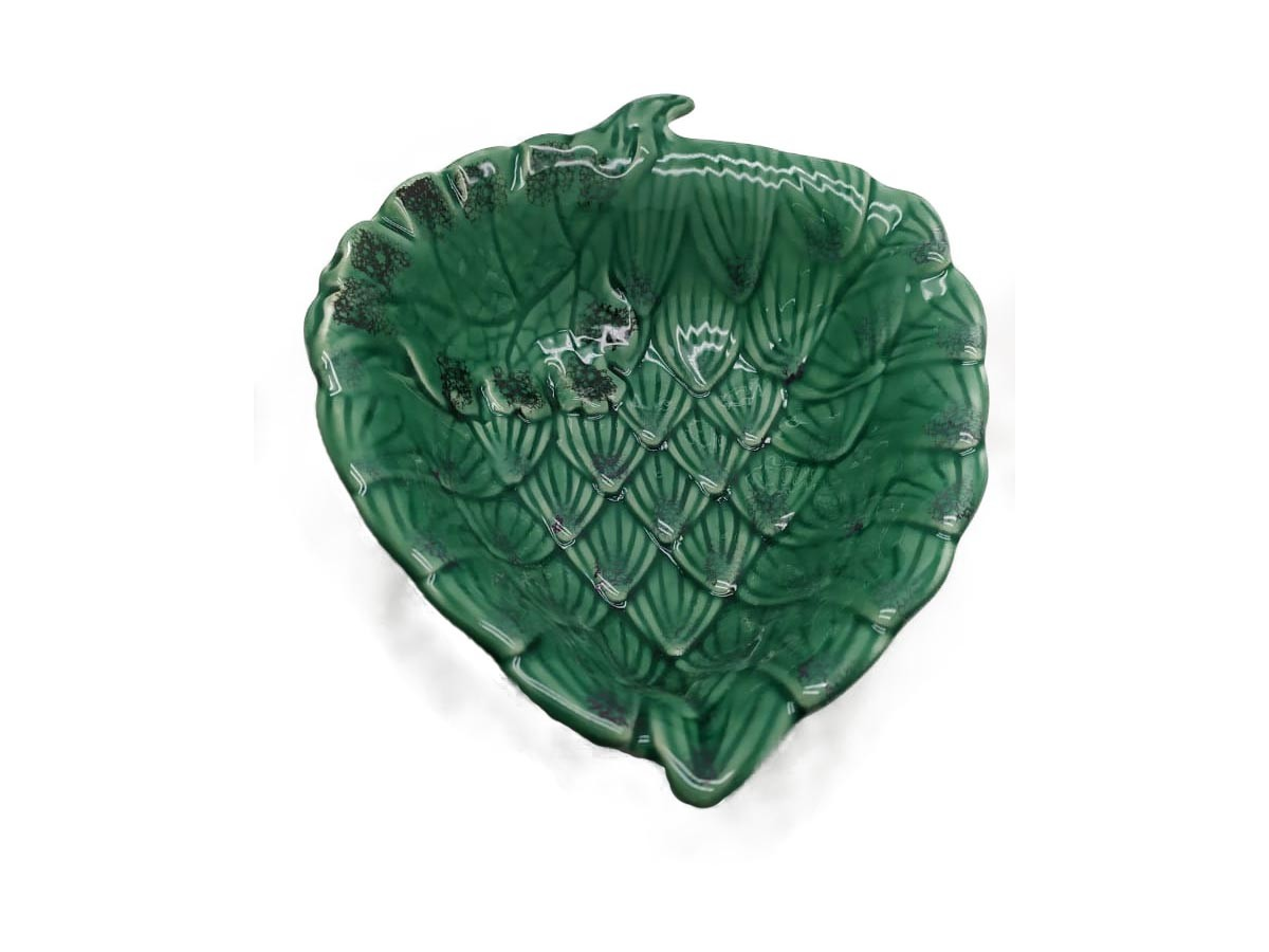 Tigela em cerâmica Alcachofra Verde - 21 x 27 cm