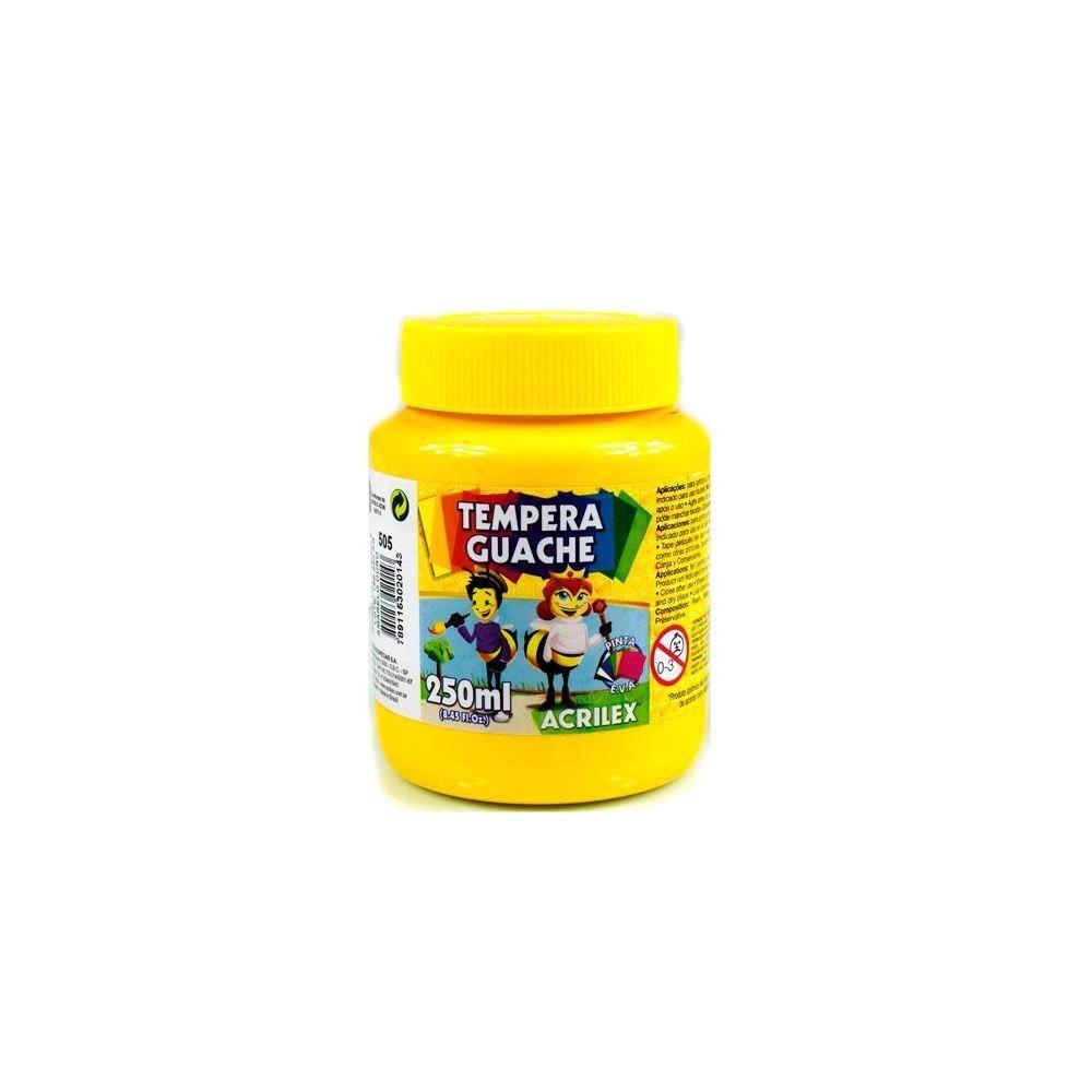 Tinta Guache 250Ml Amarelo