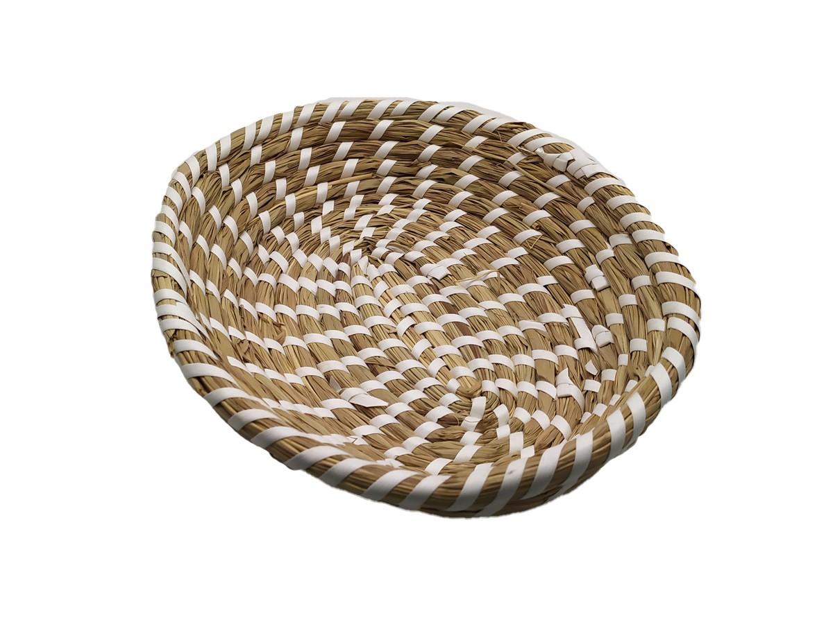 Travessa Oval em Palha pequena - 23 x 18 cm