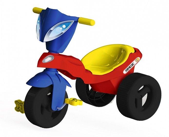 Triciclo Infantil Race Com Baú Vermelho / Azul 07343 - Xalingo