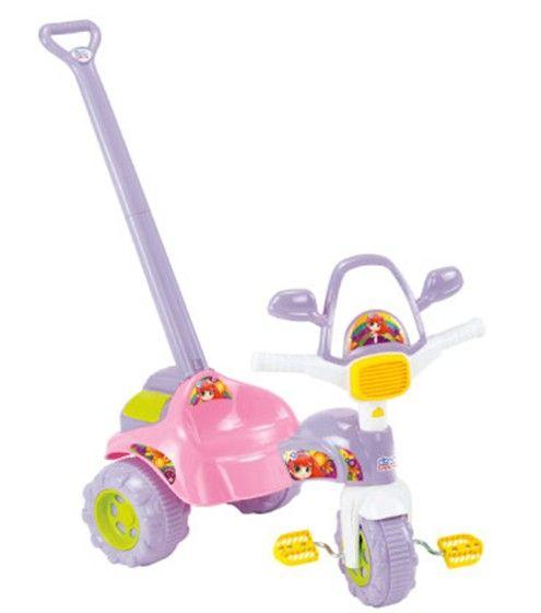 Triciclo Infantil Tico-Tico Meg Com Alça