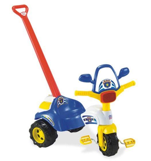 Triciclo Infantil Tico Tico Polícia Com Alça