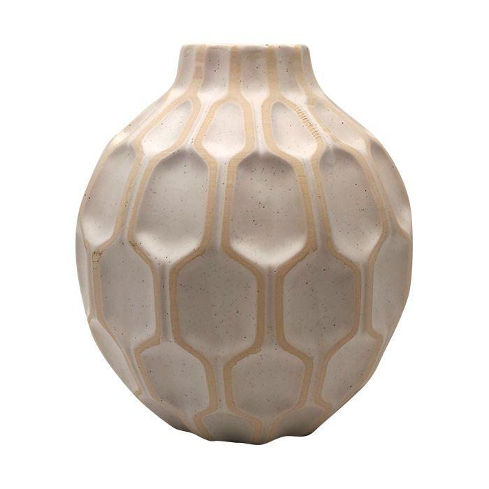 Vaso Ceramica Colmeia 15X8Cm