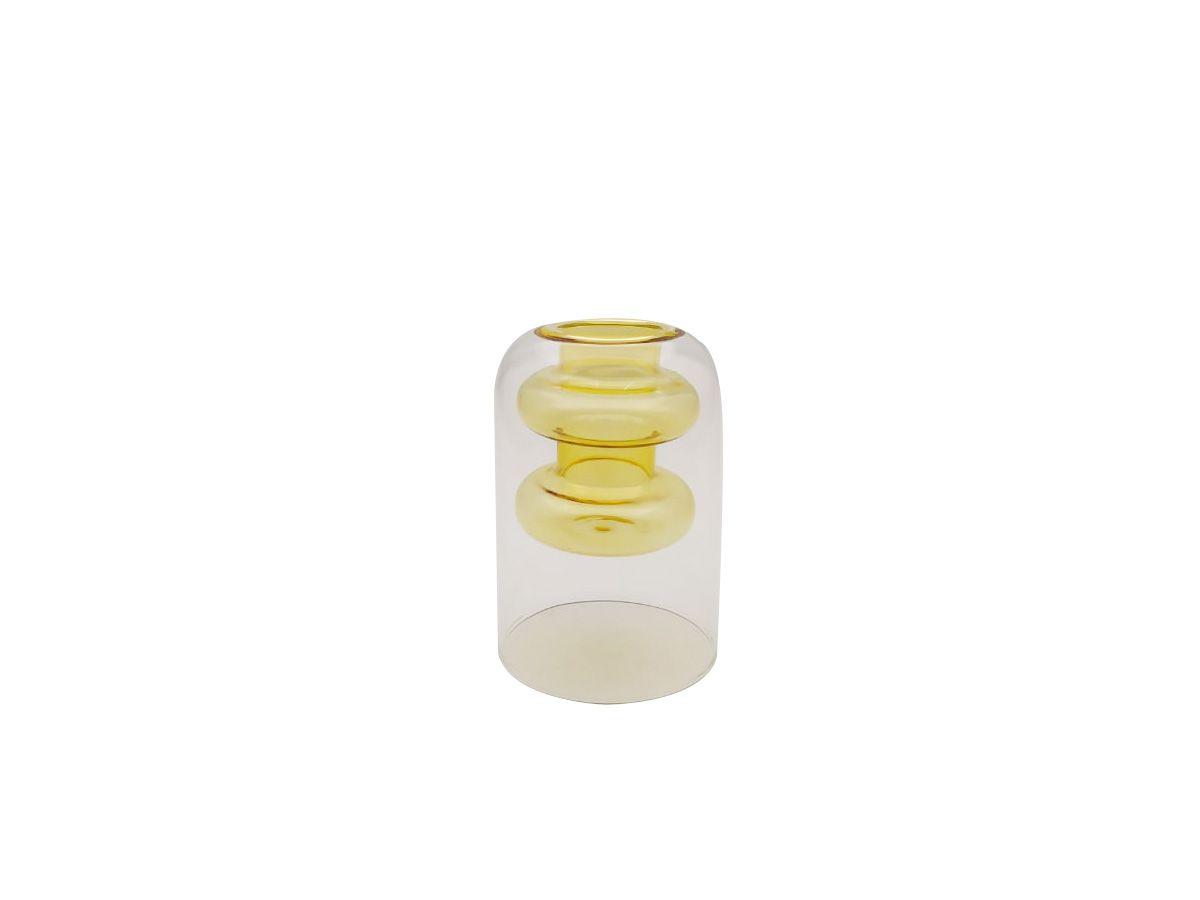 Vaso de Vidro Conceito Ambar - 8x12 cm