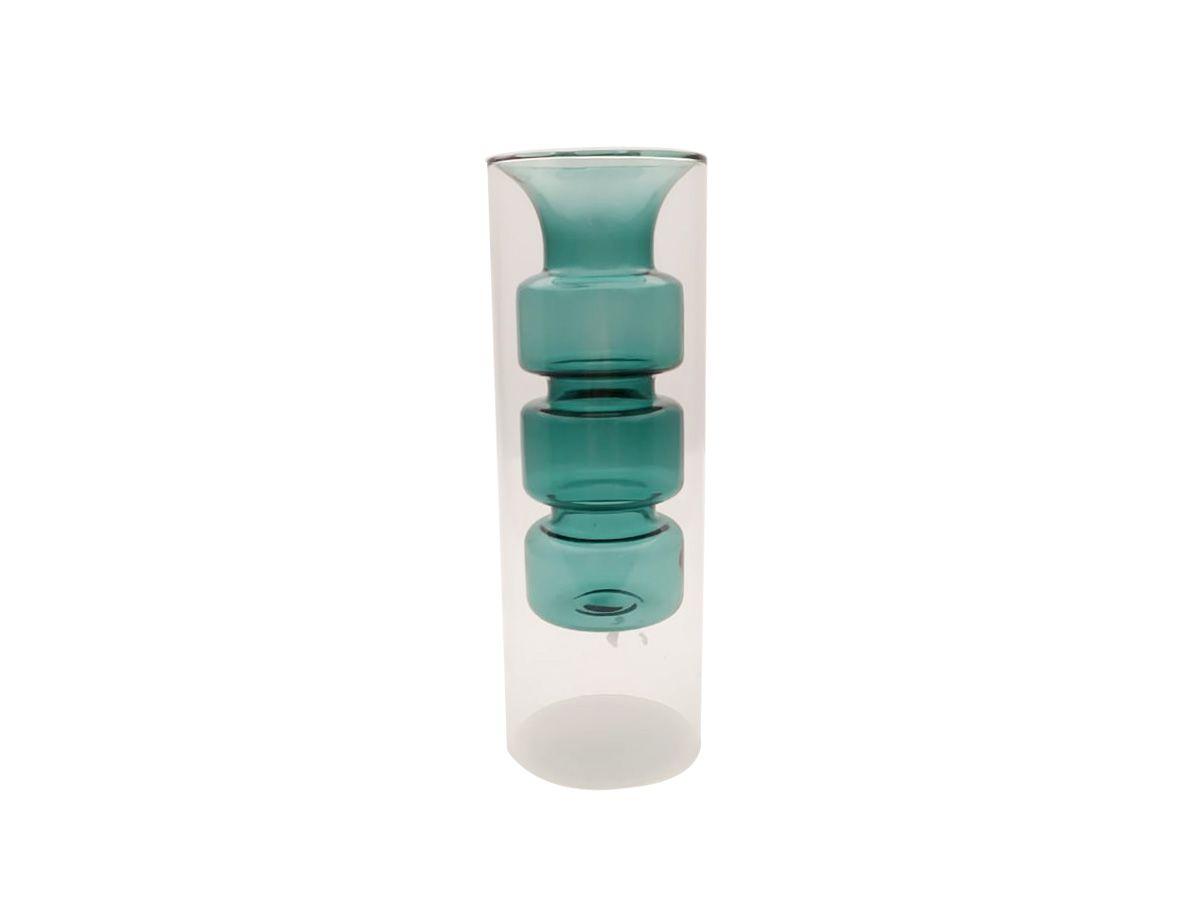 Vaso de Vidro Conceito Azul - 23x8 cm