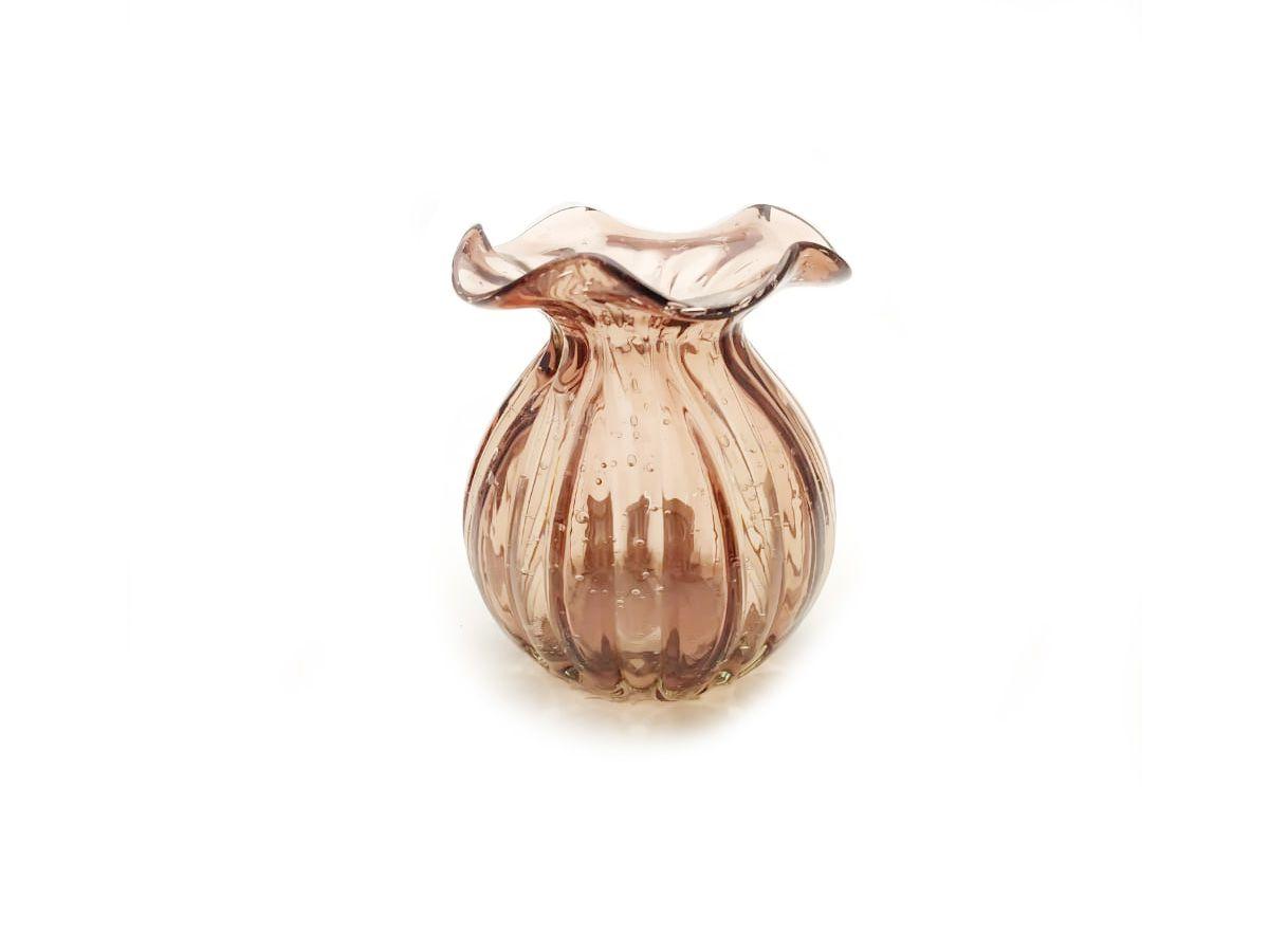 Vaso de Vidro Italy Rosa - 10,5 x 10 cm